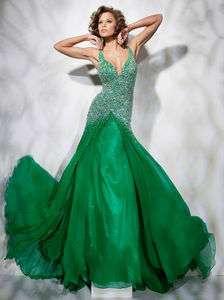 Shining V neck custom bridal wedding dress evening gown prom ball