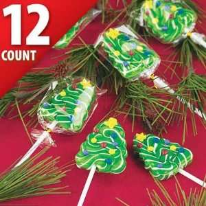 Christmas Tree Swirl Pops 12ct