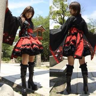 BEAUTIFUL JAPANESE FURISODE YAKATA GOTHIC LOLITA DRESS
