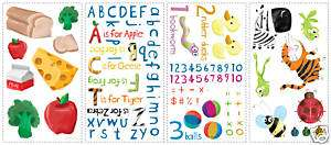 ABC 123 Wall Stickers Room Decor School Alphabet Decals