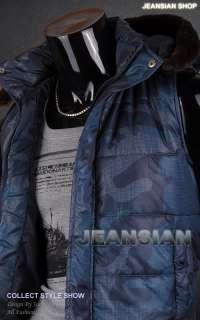3mu Mens Designer Camouflage Vest Faux Fur Hoodie Bomber Jacket Coat S
