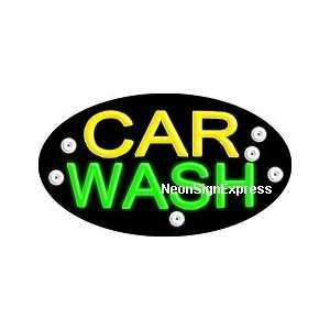 Car Wash Flashing Neon Sign