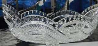 NEW 24% CRYSTAL GLASS BOWL,LARGE CENTERPIECE,CZECH Dish