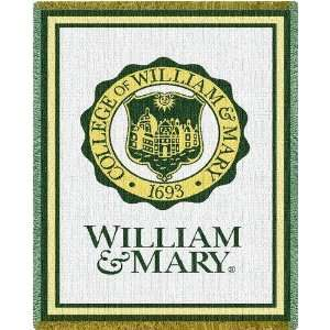 William & Mary Seal   69 x 48 Blanket/Throw   William & Mary