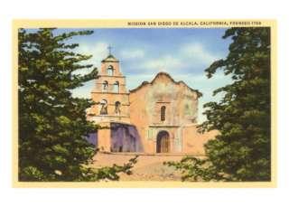 Mission San Diego de Alcala, San Diego, California Premium Poster