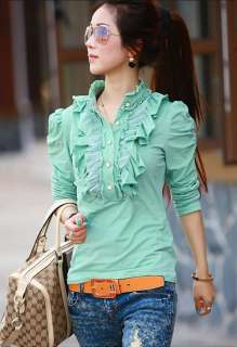Womens Fashion Lace Collar Tops T shirt Tee 3 Color T896831