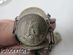 VINTAGE WWII 1940s 20 CENTAVOS MEXICO MEXICAN SILVER COIN BRACELET
