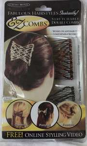 EZ combs 2 Pcs Beaded Hair Comb Stretch Not As Seen On TV