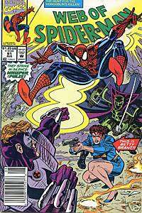 1992 AUG #91 MARVEL WEB OF SPIDER MAN COMIC BOOK