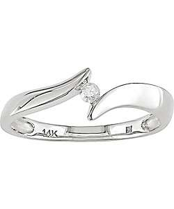 14k White Gold Diamond Ring (H I, I1 I2)