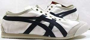 New Asics Onitsuka Tiger Mexico 66 Slip On CV BIRCH/NAVY
