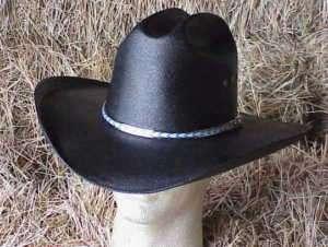 NEW BLACK STRAW COWBOY WESTERN HAT