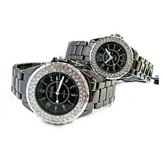 diamond crystal new sinobi BLACK Tungsten Quartz wrist watch SN6