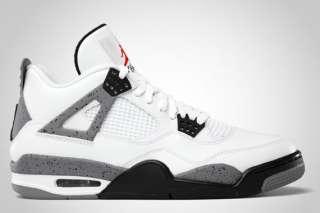 Mens Nike Air Jordan Retro 4 Cement White/Black/Grey Size 7.5 15
