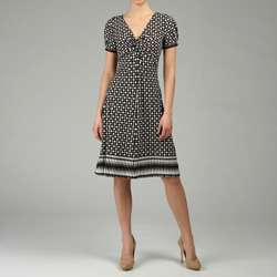 Donna Morgan Womens Short sleeve Printed Jersey Dress