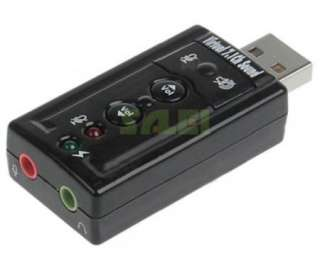 USB 2.0 to 3D Virtual Audio Sound Card Adapter Converter 7.1 CH