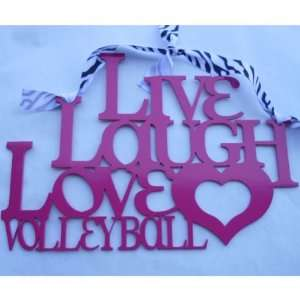 Live Laugh Love Volleyball Metal Sign