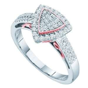 0.33 Carat Diamond Micro Pave Fashion Ring With Triangle