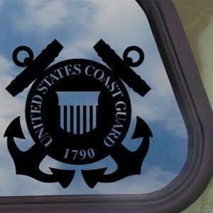 Coast Guard Shield Black Decal United States Military