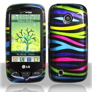 Colorful Zebra Hard Case Cover LG Cosmos Touch VN270