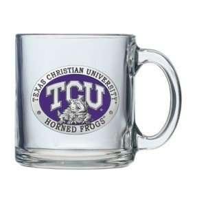 TCU Horned Frogs Logo Clear Coffee Mug Sports & Outdoors