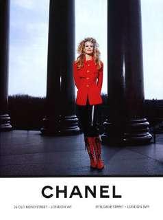 1992 Chanel Claudia Schiffer Karl Lagerfeld magazine ad