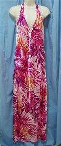 Fredericks Hollywood Womens Sundress Dress Gown Hawaiian Purple Pink