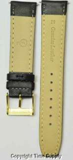 20 mm BLACK CALF LEATHER PADDED WATCH BAND / STRAP NEW