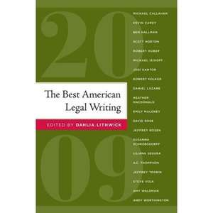 The Best American Legal Writing, Lithwick, Dahlia