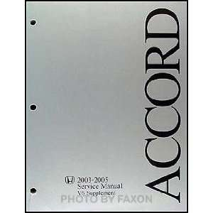 Honda Accord V6 Supplement Shop Service Manual Honda Motor Co. Books