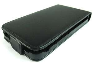 Black Leather Pouch Flip Case Cover for Samsung Galaxy S2 II i9100