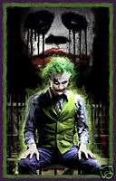 Heath Ledger JOKER The Dark Knight CANVAS ART