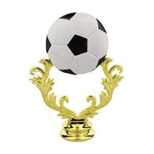 Gold 5 Color Soccer Trophy Ball Figure Trophy