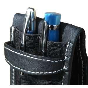Fountain Pen International Leather USA Black Double Pen