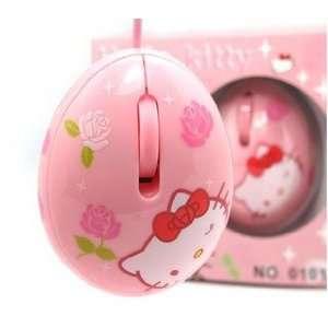 pink hello kitty egg shaped optical mouse Electronics