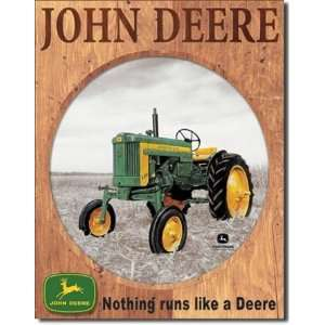 John Deere 320 Tin Sign by Desperate Enterprises: Home & Kitchen