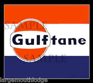 GULF OIL DECAL STICKER NORTHWESTERN GUMBALL MACHINE