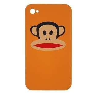 Monkey iPhone 4 Hard Case Cover Only Orange Black Red