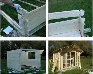 The principal of this shed is the same as a log cabin. In some