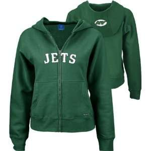 New York Jets Green Juniors Full Zip Hooded Sweatshirt