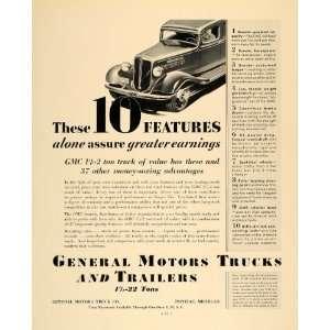 1935 Ad General Motors Trucks Trailers GMC Pontiac Mich