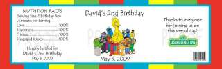 Birthday Elmo Sesame Street WATER BOTTLE LABELS Favor