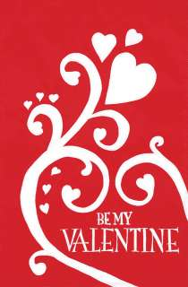 Large Flag   Be My Valentine applique for Valentines Day   Spring