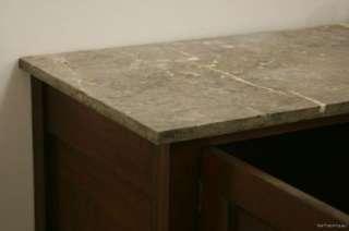 Nice Large Edwardian Mahogany Carved Washstand   Marble Top