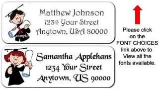 30 Graduation kids Personalized Return Address Labels
