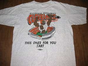 BROWNS large T shirt football anti Art Modell 1996 local union support