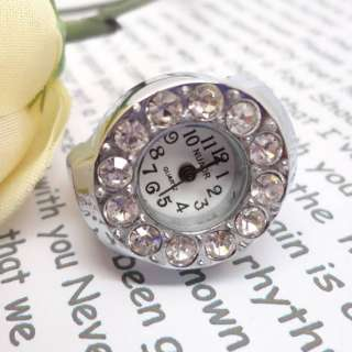 Styles Creative Fashion Steel Quartz Finger Stretch Ring Watch