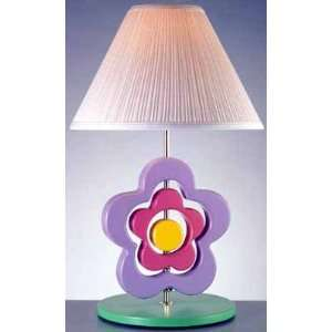 Hippie Spinning Flower Table Lamp