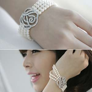 Honour rose four layers pearl bracelet Drw