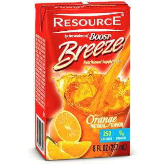 Resource Breeze, Clear liquid nutrition beverage, Orange